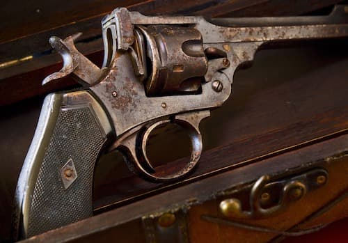 Handgun with rust