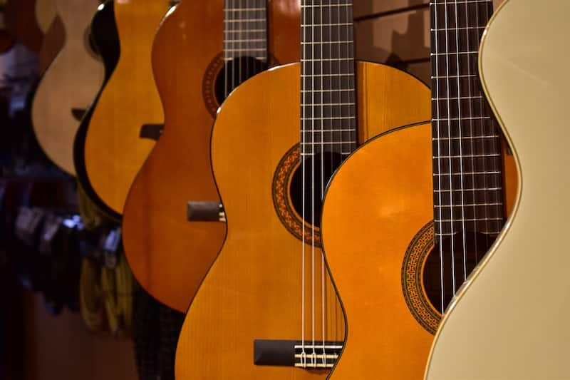 Healthy guitars stored in a good humidity and temperature conditions